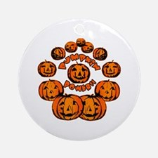Pumpkin Power Ornament (Round)