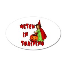 Witch in Training 22x14 Oval Wall Peel