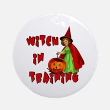 Witch in Training Ornament (Round)