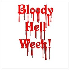 Bloody Hell Week Poster