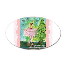 Sugar Plum Fairy 22x14 Oval Wall Peel