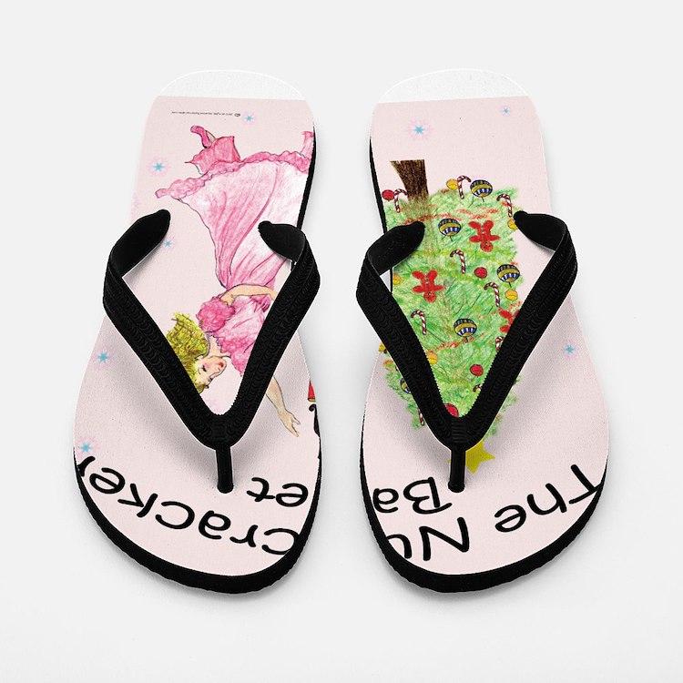 Cute Nutcracker ballet Flip Flops