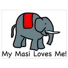 Masi Loves Me Canvas Art