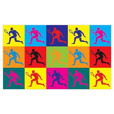 Tennis Pop Art Poster