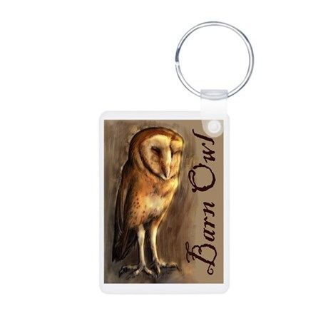 Barn Owl Aluminum Photo Keychain