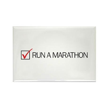 Run a Marathon Check Box Rectangle Magnet