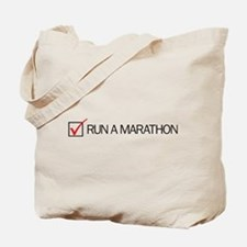 Run a Marathon Check Box Tote Bag