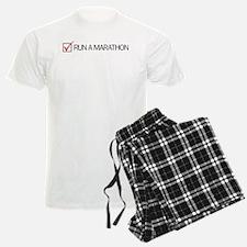 Run a Marathon Check Box Pajamas