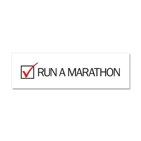 Run a Marathon Check Box Car Magnet 10 x 3