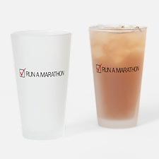 Run a Marathon Check Box Drinking Glass