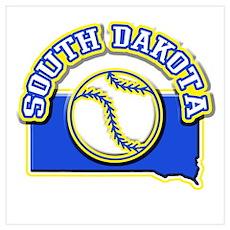 South Dakota Baseball Poster