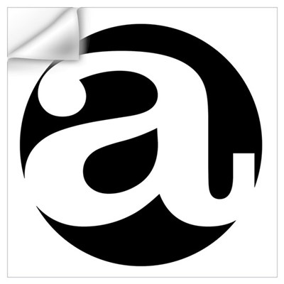 "Black and White ""a"" Wall Decal"