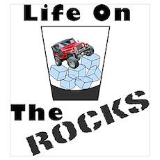 On Rocks Glass Poster