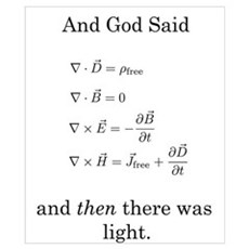 God Said Maxwell's Equations Poster