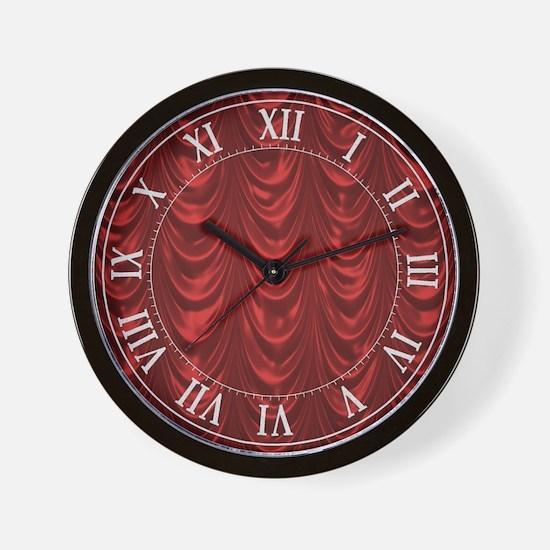 Christmas Red Satin Wall Clock