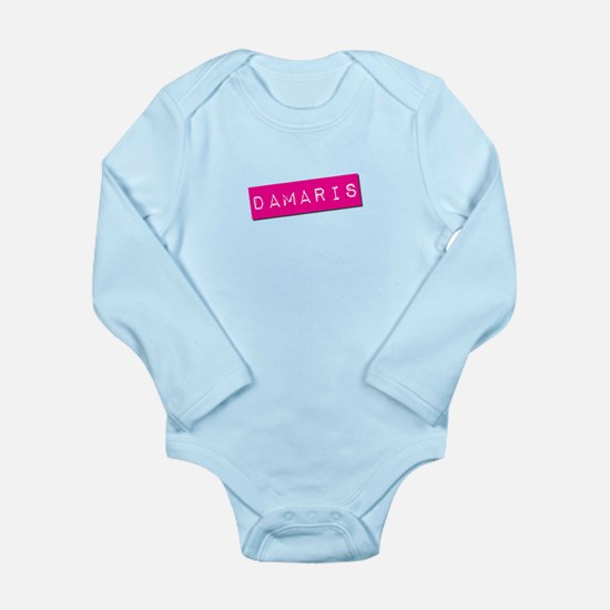 Damaris Punchtape Long Sleeve Infant Bodysuit