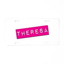 Theresa Punchtape Aluminum License Plate