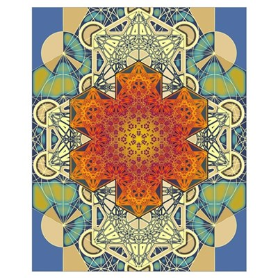 Sacred Geometry Metatron Mandala Star 3 Canvas Art