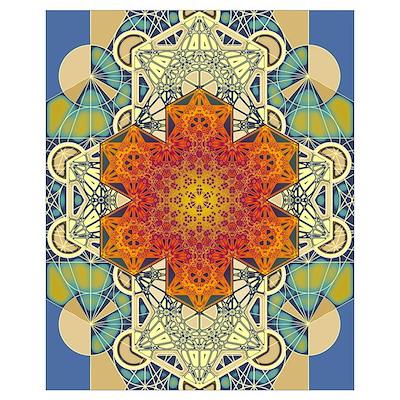 Sacred Geometry Metatron Mandala Star 3 Poster