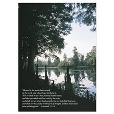 Blessed is the man Scripture Print Poster