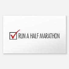 Run a Half Marathon Check Box Decal
