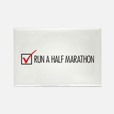 Run a Half Marathon Check Box Rectangle Magnet