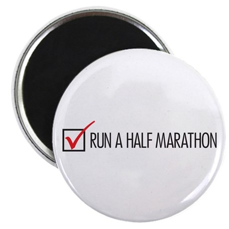 Run a Half Marathon Check Box Magnet