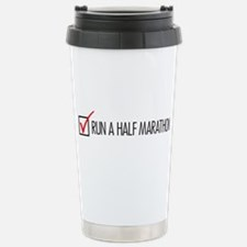 Run a Half Marathon Check Box Travel Mug