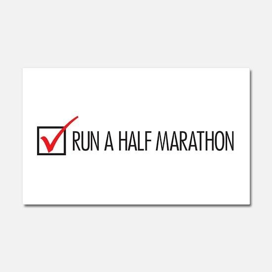 Run a Half Marathon Check Box Car Magnet 20 x 12
