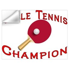 Table Tennis Champion Wall Decal