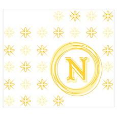 """Monogrammed """"N"""" Poster"""