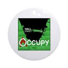 occupy wall street 04 Ornament (Round)