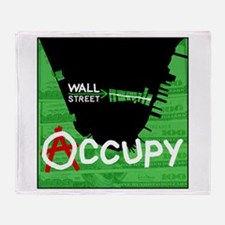 occupy wall street 04 Throw Blanket