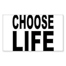 Choose Life Rectangle Decal