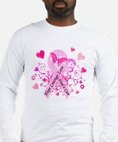 Pink Ribbon with Love Long Sleeve T-Shirt