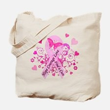 Pink Ribbon with Love Tote Bag