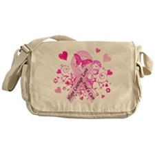 Pink Ribbon with Love Messenger Bag