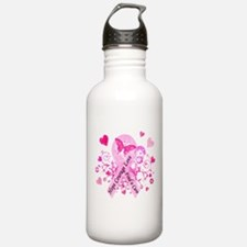Pink Ribbon with Love Water Bottle