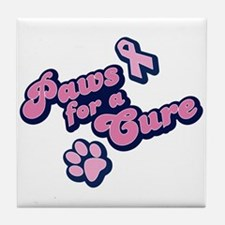 Paws for a Cure Tile Coaster