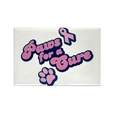 Paws for a Cure Rectangle Magnet