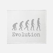 Darwin Evolution Design Throw Blanket