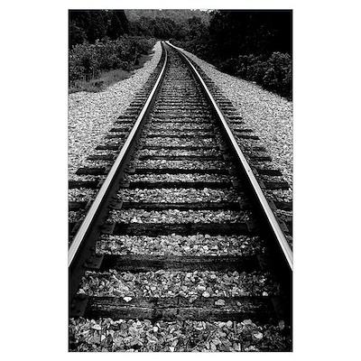 Railroad Dagguerotype Style Poster