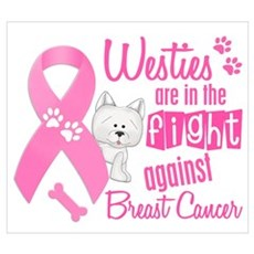 Westies Against Breast Cancer 2 Framed Print