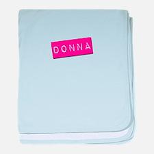 Donna Punchtape baby blanket