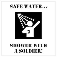 Soldier Shower! Poster