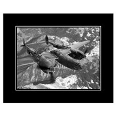 P38 Lightning Composite 16x20 Poster