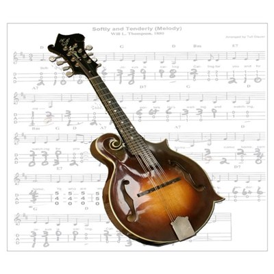 Mandolin and Sweet Music Poster