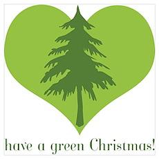 Green Christmas Poster
