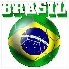 Brazil Brasil Football Poster