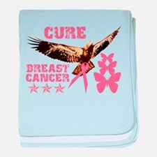 Cure Breast Cancer Eagle baby blanket